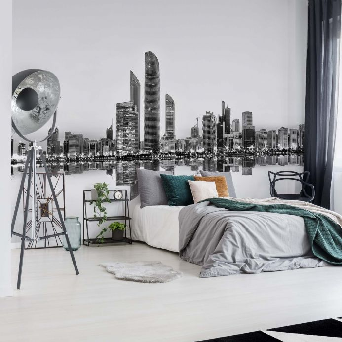 Wall mural photo wallpapers Abu Dhabi City Skyline | Homewallmurals Shop
